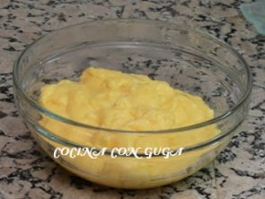 crema pastelera para la tarta de quinoa