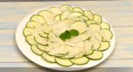 Receta de calabacín: Carpaccio de calabacín con queso parmesano