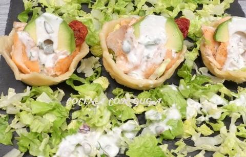 Tartaletas de Queso. Cómo hacerlas rellenas de salsa de yogur