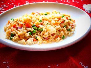 cómo hacer arroz tres delicias