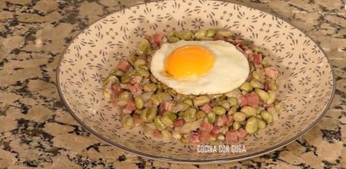 receta de habas con jamón