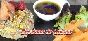 Ensalada con Quinoa y Salmón