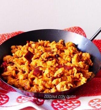 receta de huevos revueltos