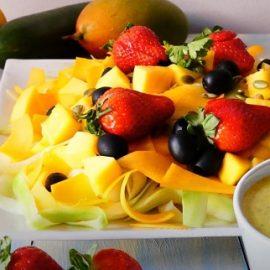 Receta de Ensalada de Mango, Calabacín y Calabaza