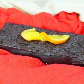 Turrón de Trufa de Chocolate con naranjas caramelizadas