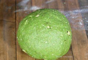 masa pan de molde integral espinacas